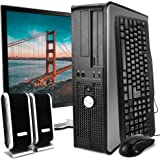 Dell Desktop Computer Package with WiFi, Dual Core 2.0GHz, 80GB, 2GB, Windows 10 Professional, Dell 17in Monitor…