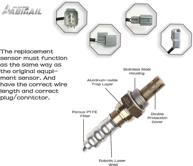 Heated Oxygen O2 Sensor 234-4065 234-4099 Upstream /& Downstream sensor 1 sensor 2 for 1996-2000 Honda Civic 1.6L D16Y7 Engine