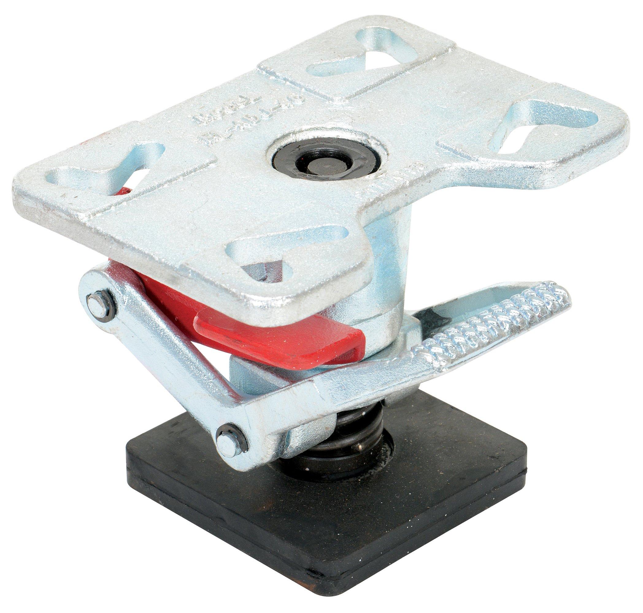 Vestil FL-ADJ-46 Adjustable Height Floor Lock, Heavy Duty Cast Steel, 6-1/4'' - 8'' Extended Height, 5-1/2'' to 7-1/4'' Retracted Height