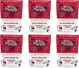 product image for Seven Sundays Organic Farmers Market Muesli {12 oz, 6 Count}   Certified Organic   Gluten Free Certified   No Added Sugar   Non-GMO   Vegan, Almond Date Currant