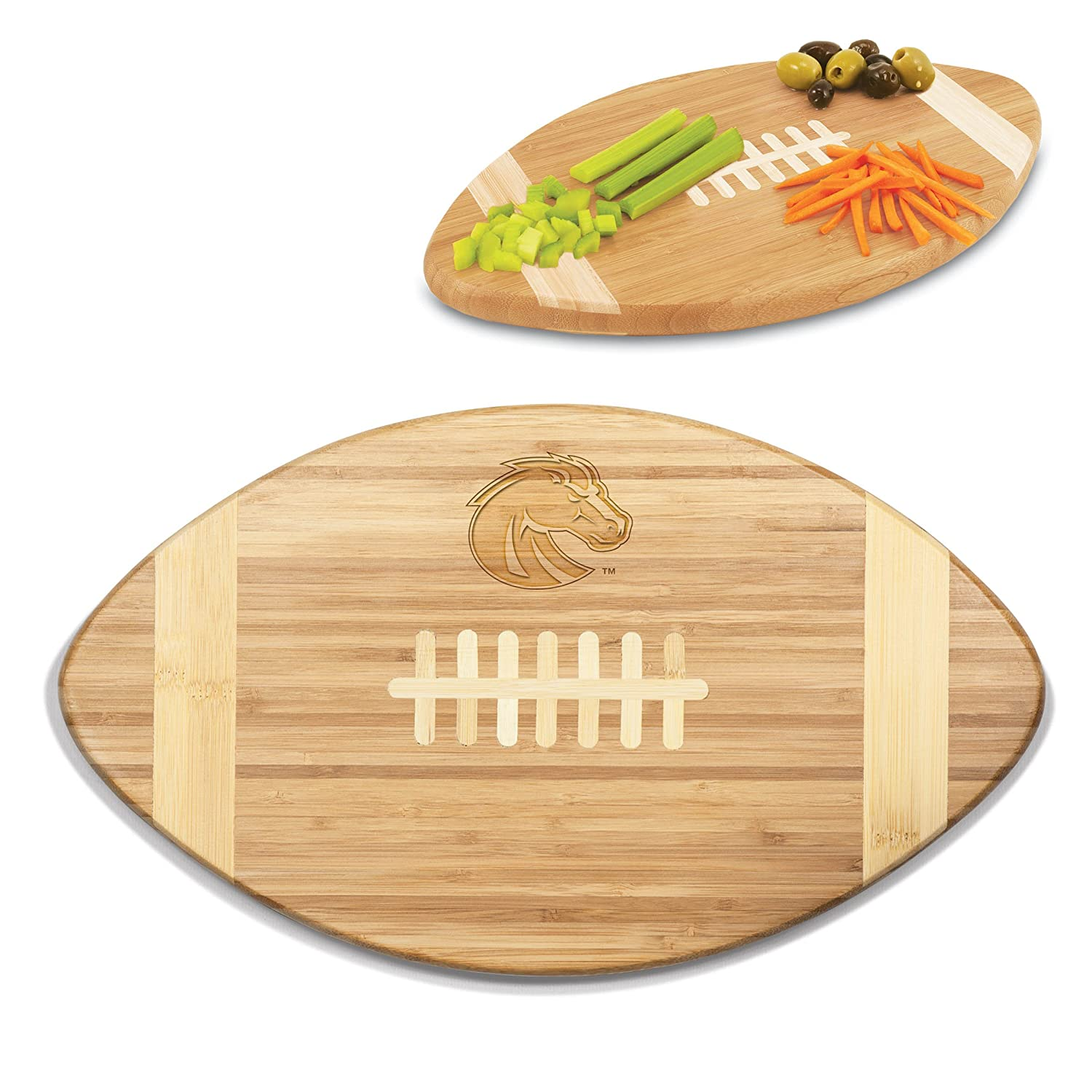 NCAA Boise State Broncos Touchdown 16-Inch Picnic Time 896-00-505-703-0 Bamboo Cutting Board