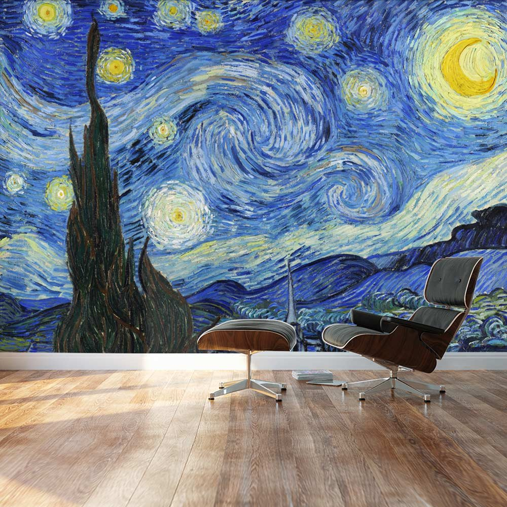 Large Wall Mural Famous Oil Painting Reproduction of Starry Night by