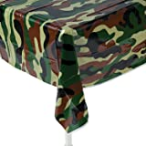 """Fun Express Camouflage Plastic Tablecover Camo Tablecloth - 54"""" x 108"""""""