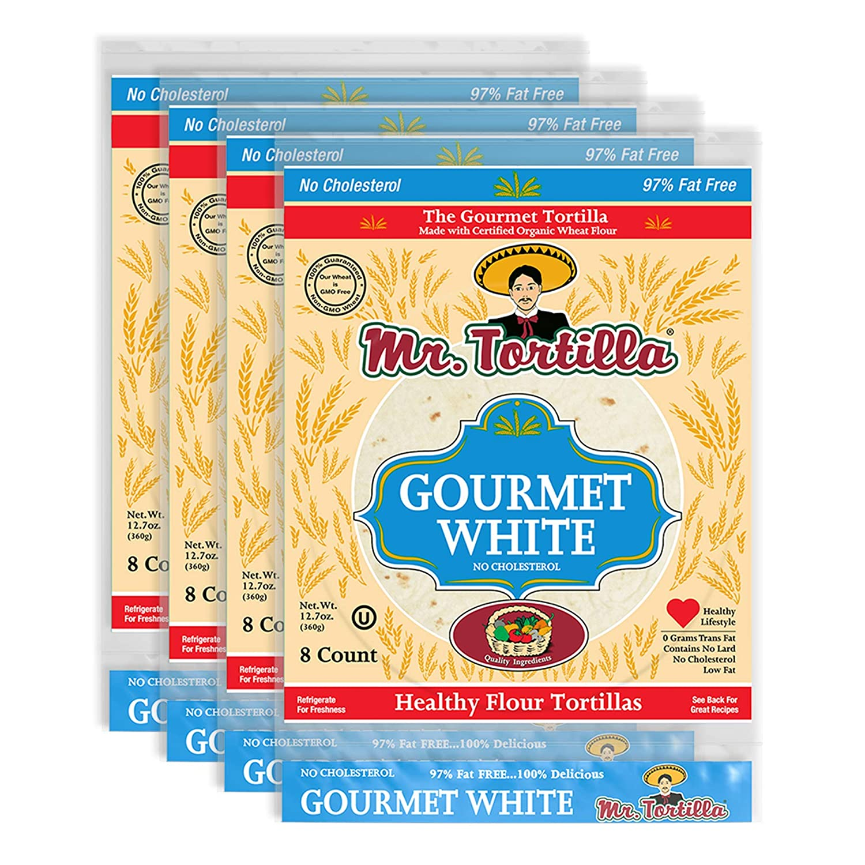 Gourmet White Tortilla by Mr. Tortilla (4 Pack)