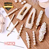 10pcs Pearls Hair Clips for Women Girls, 2019 Fashion Hair barrettes, Hair Clips Pearl for Birthday Valentines Day Gifts Bling Hairpins Headwear Barrette Styling Metal Hair Clip Wedding (Color: a Pearl Hair Clips set 10 Pcs, Tamaño: Pearl Hair Clips)