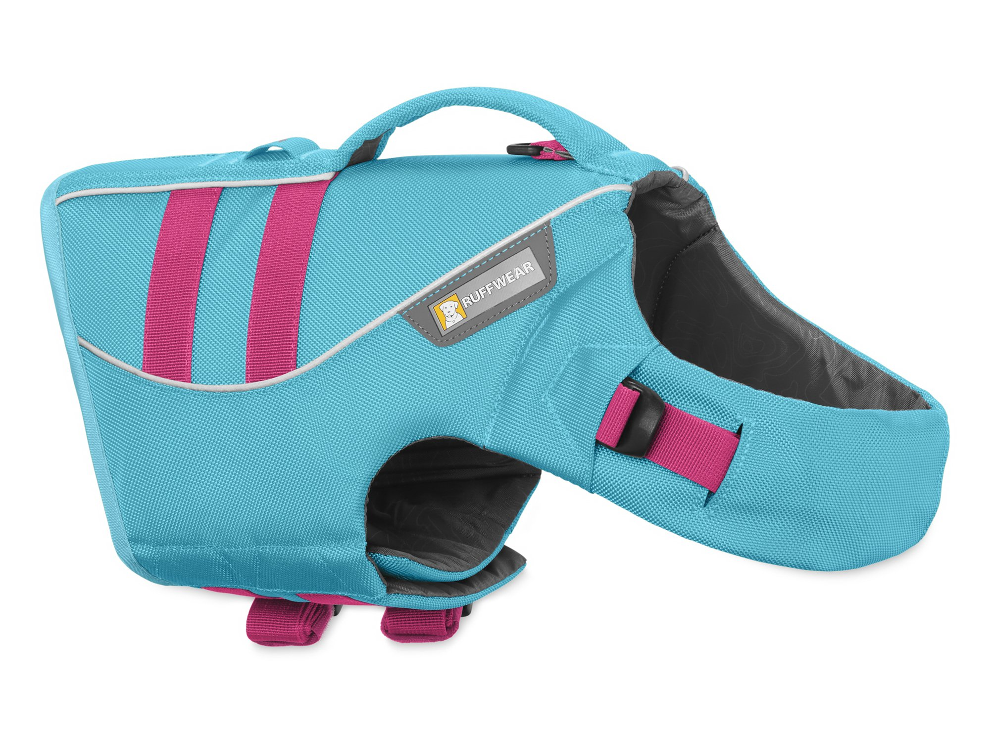 RUFFWEAR - Float Coat Reflective Life Jacket for Dogs, Blue Atoll, Large