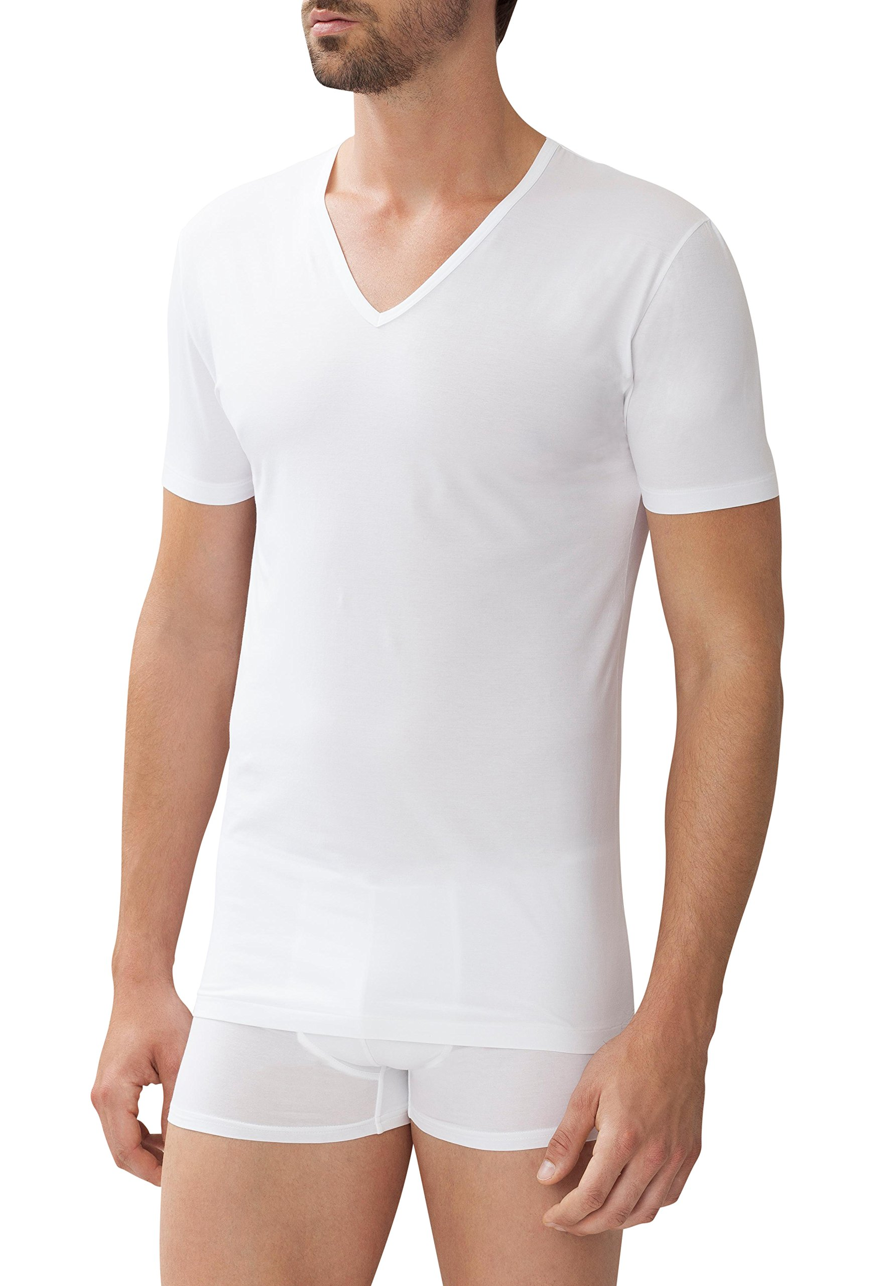 Zimmerli V-Neck Short Sleeve T-Shirt L White