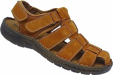 Herren Sandalette Outdoorsandale Schuhe Trekking Sandale Gr.41-46 Art.7281 Braun