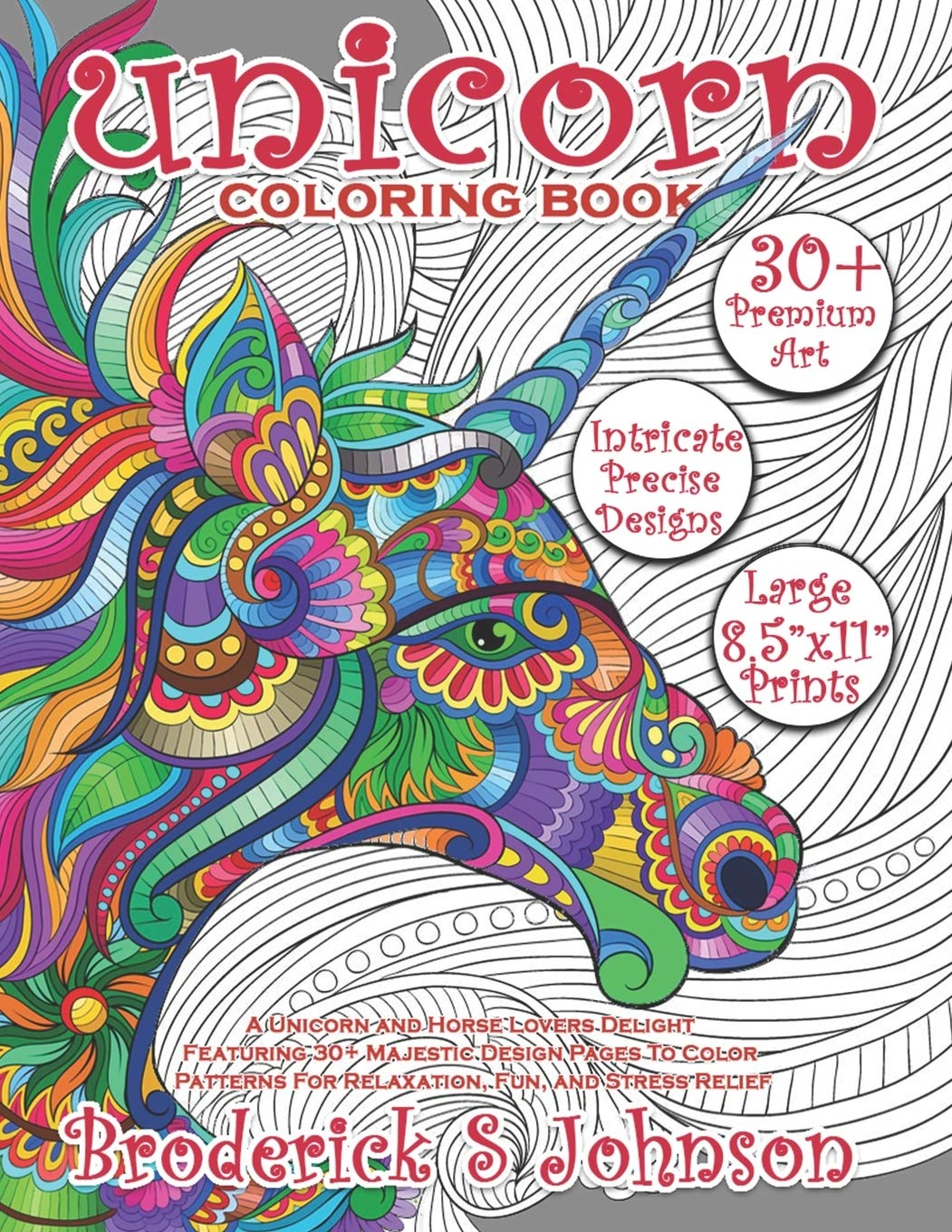 Unicorn Coloring Book A Unicorn and Horse Lovers Delight ...
