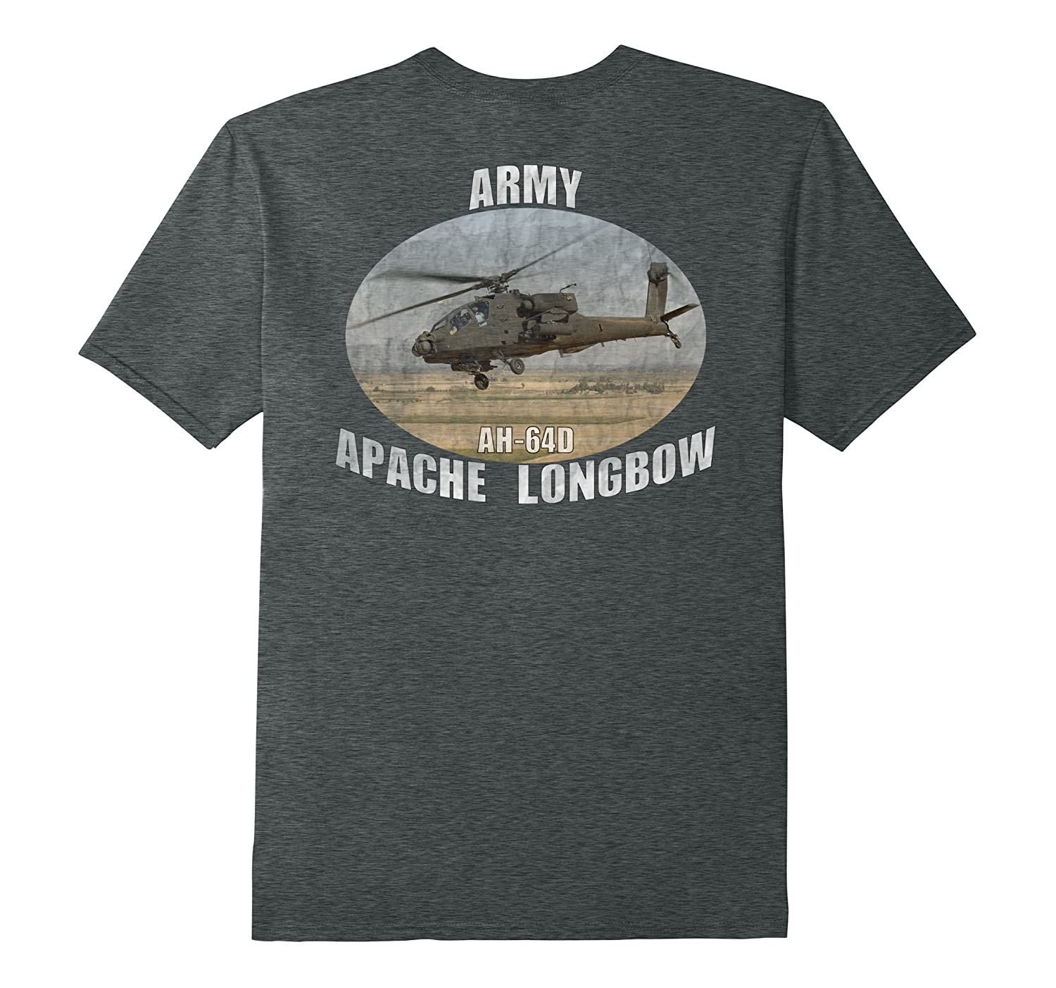 ARMY AH-64 Apache HELICOPTER DISTRESSED T-SHIRTS