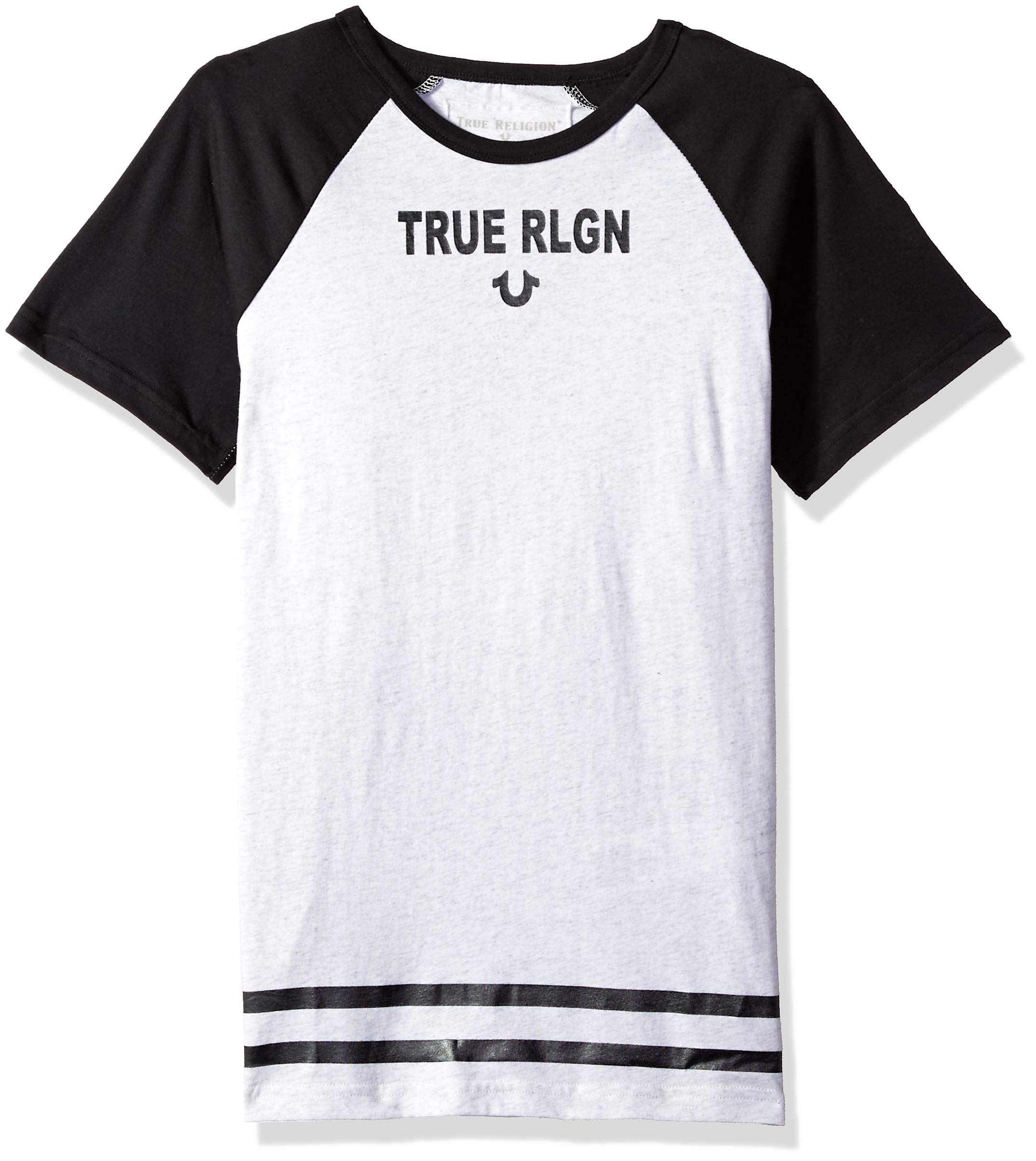 True Religion Boys' Little Logo Tee Shirt, White/Heather, 4