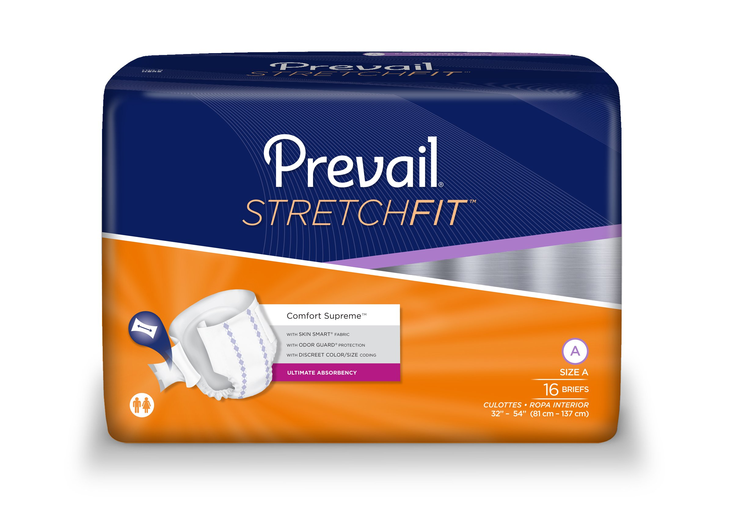 Amazon.com: Prevail® Stretchfit™ Brief, Size A, Case of 96: Health & Personal Care