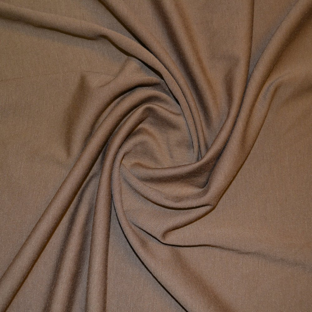 Camel Double Knit Jersey Fabric (CO) SKU06881