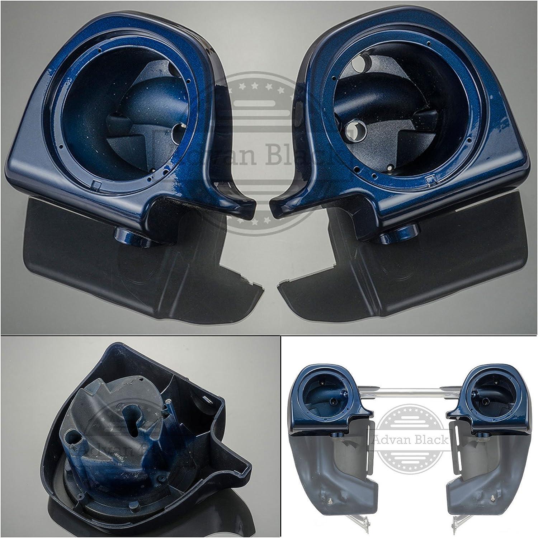 "Advanblack 6.5/"" Speaker Pods Big Blue Pearl For 2014-2018 Harley Lower Fairing"