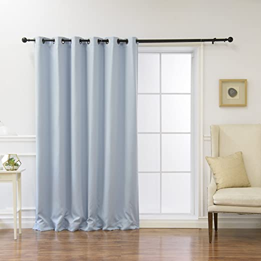 Antique Bronze Grommet Top 100 W x 84 L - Best Home Fashion Wide Width Thermal Insulated Blackout Curtain Grey 1 Panel