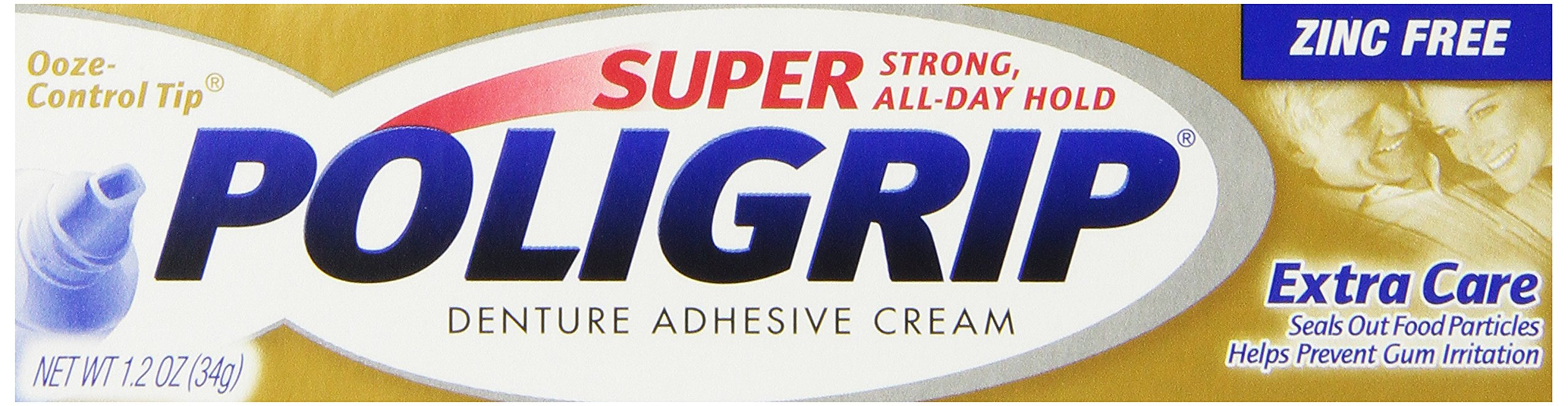 Super Poligrip Extra Care with Poliseal, 1.2-Ounce Packages (Pack of 6)
