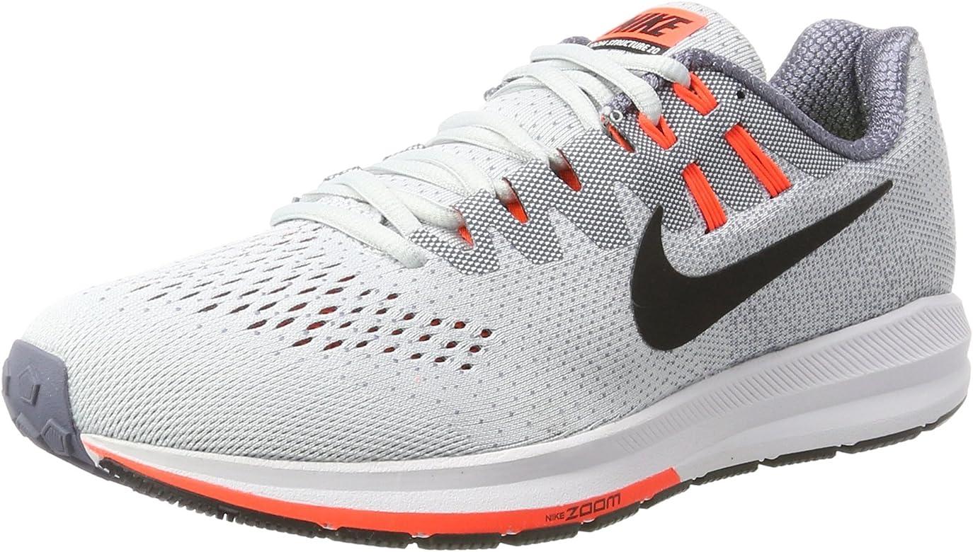 Nike Air Zoom Structure 20, Zapatillas de Running para Hombre, Gris (Pure Platinum/Black-lt Carbon-Total Crim), 43 EU: Amazon.es: Zapatos y complementos