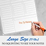 Magnetic Dry Erase Board for Refrigerator - Weekly