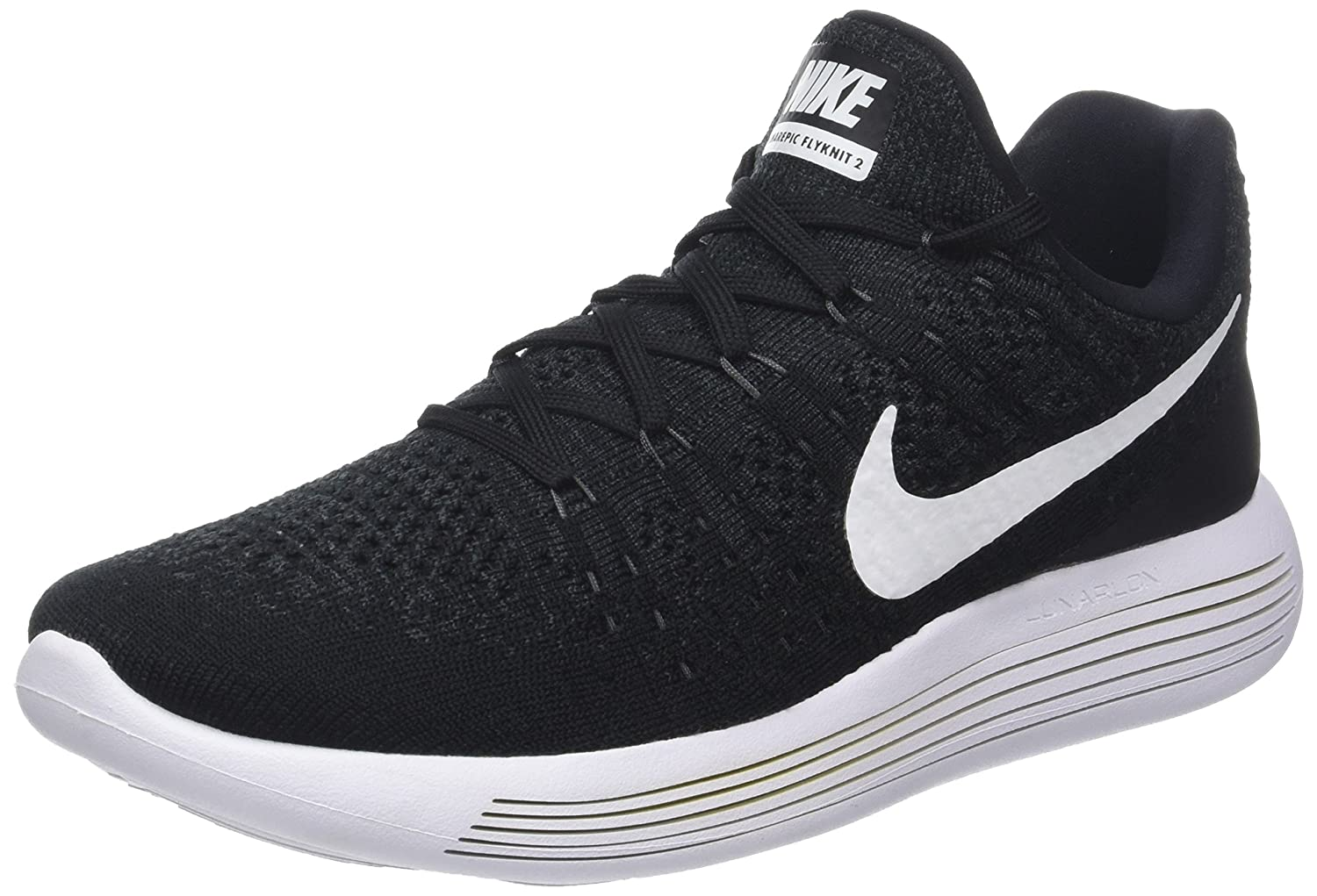 low priced 39a58 2bb60 Nike Men Lunarepic Low Flyknit 2 Running (Black/White-Anthracite) Size 9.0  US