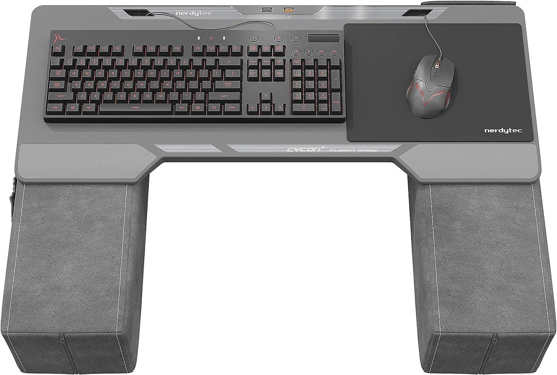 Couchmaster® CYCON² - Fusion Grey - Base ergonómica para Ratón y Teclado. Utilizable: PC / PS4/5 / Xbox One/Series X