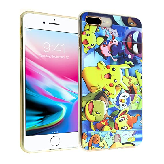the latest aa6a4 74d98 Pikachu Characters iPhone 8 Plus Case, iPhone 7 Plus Case, IMAGITOUCH  Anti-Scratch Shock Proof Slim Fit Flexible TPU Case Bumper Cover for iphone  8 ...