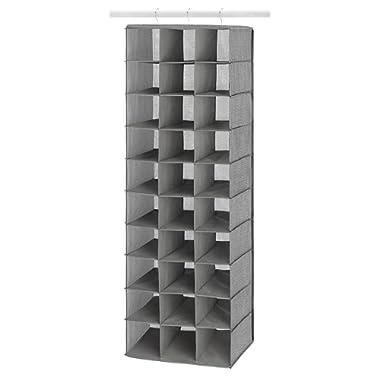 Whitmor Hanging Shoe Shelves - 30 Section - Closet Organizer