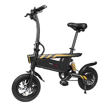 Olodui1 Bicicleta Eléctrica Plegable 250W Negro Bicicleta de Montaña de Aleación de Aluminio Rueda de 16 Pulgadas