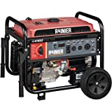 Rainier R12000DF Dual Fuel (Gas and Propane) Portable Generator with Electric Start - 12000 Peak Watts & 9500 Rated Watts - C
