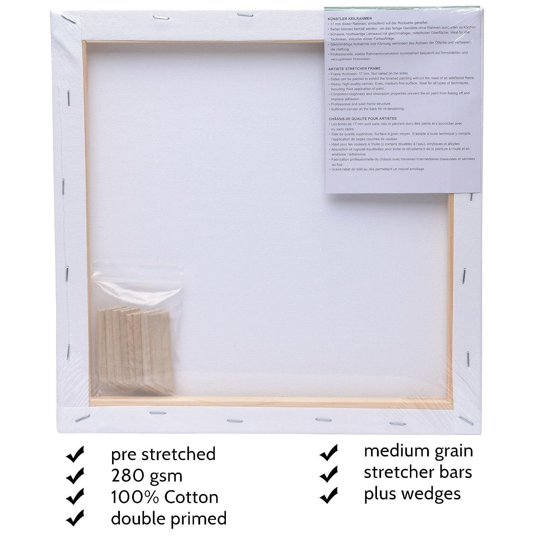 Artina Akademie FSC-zertifizierter Keilrahmen Set 5er - 30x30 cm ...