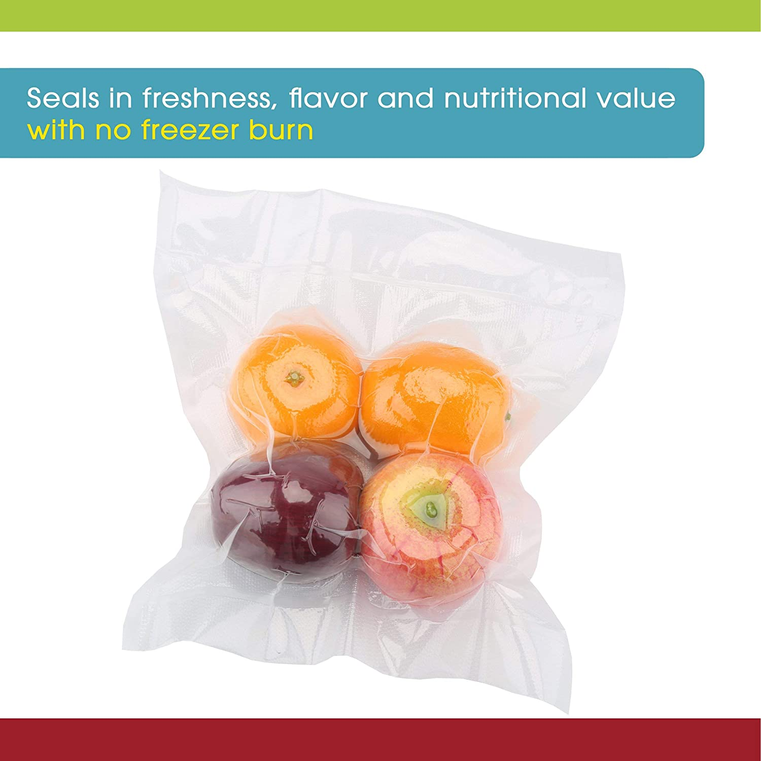 Perfect for Custom-Sized Pouches FDA Approved and Phthalate Free Freeze Refrigerate BPA Vacuum Sealer Bags for Maximum Freshness Vacuum Seal Rolls 8 Inches x 20 Ft by Vesta Precision Works with Most External Clamp Vacuum Mach Lead Microwave