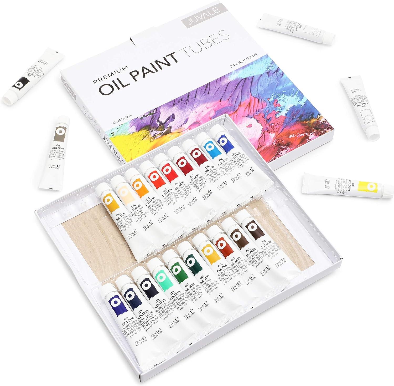 Premium Oil Paint Tubes (12 ml, 24 Colors)
