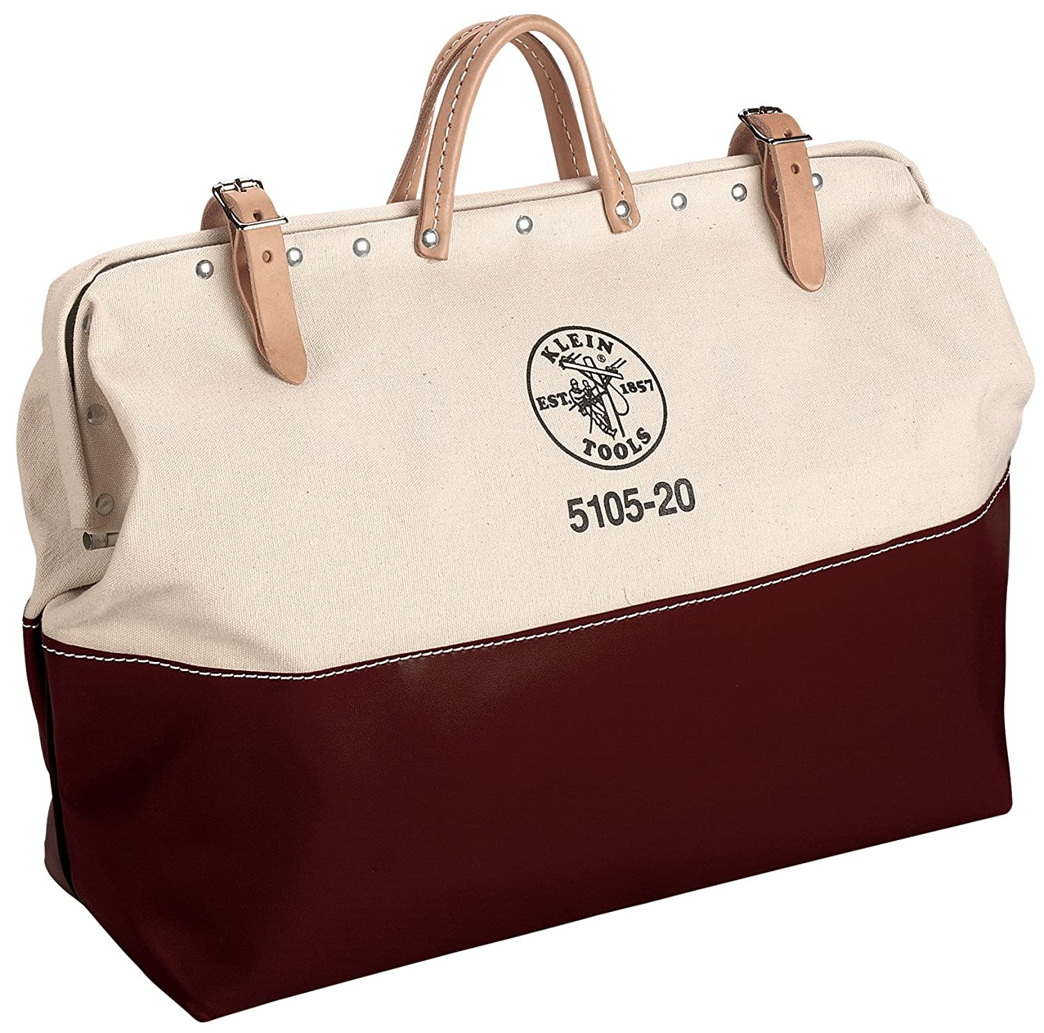 Klein 5105-24 24-Inch High-Bottom Canvas Tool Bag Klein Tools
