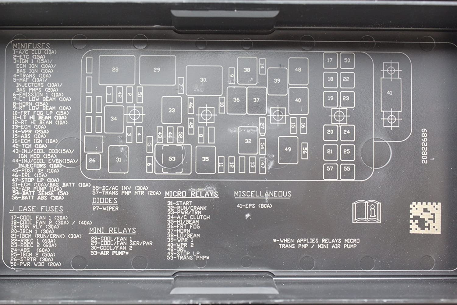 09 12 Chevrolet Malibu 20822695 Fusebox Fuse Box Relay 2010 Jeep Wrangler Location Unit Module Automotive
