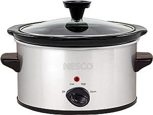 Nesco 1.5 Qt. Oval Analog Silver slow cooker, Quart