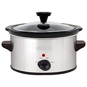 Nesco SC-150-47 1.5 Qt. Oval Analog Silver slow cooker Quart