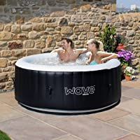Wave Spas Atlantic Inflatable HotTub, (4 Person, Black) Hot Tub, Integrated Heater & Compressor