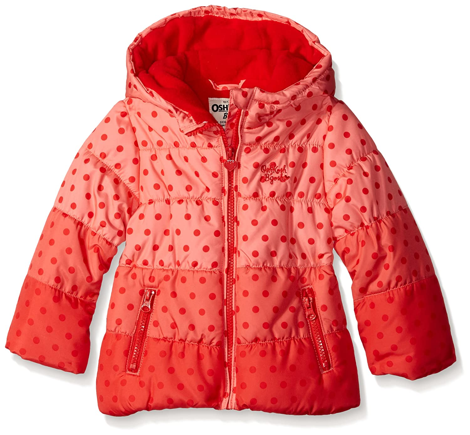 Osh Kosh Girls' Puffer with Ombre Dots B215702