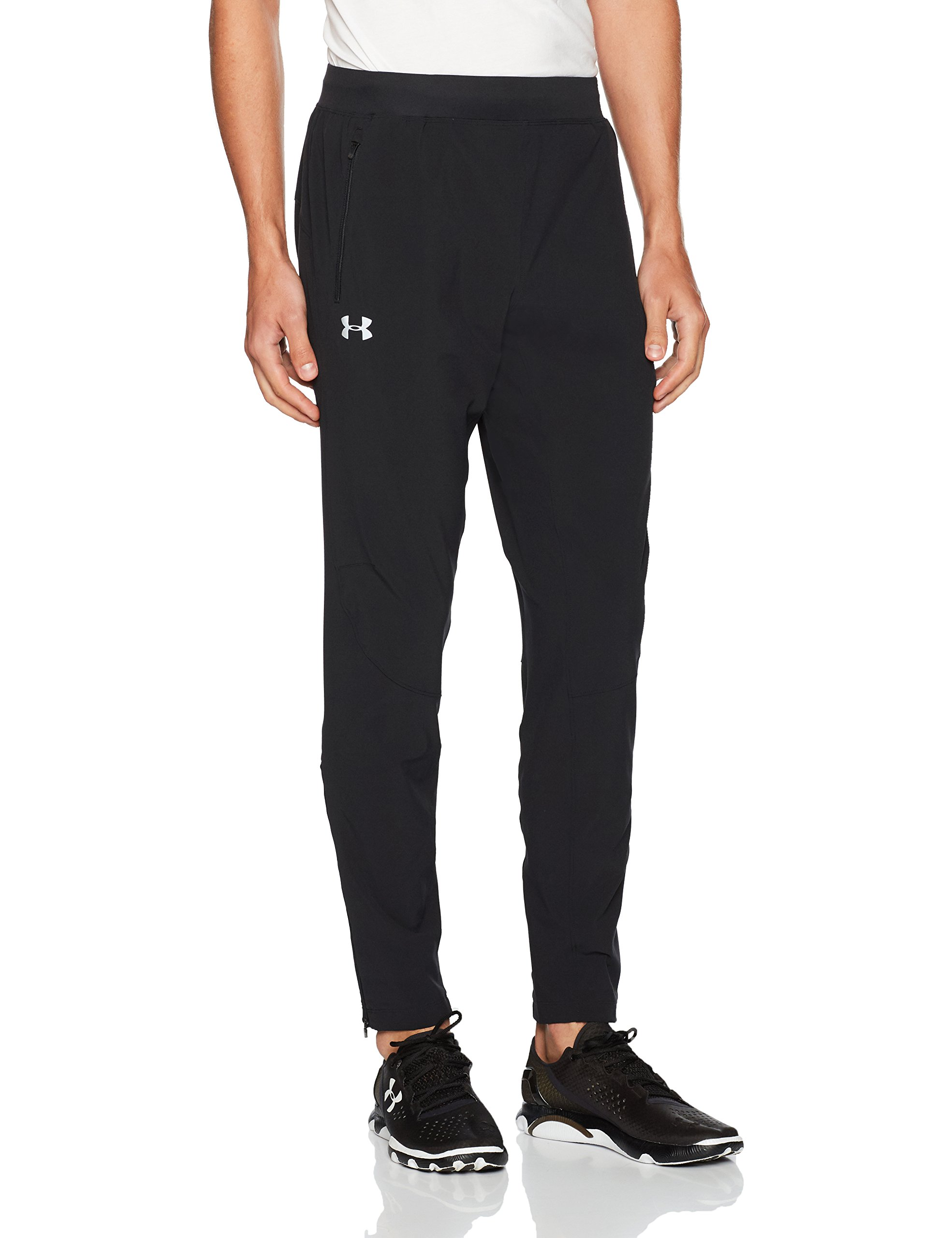 Under Armour Men's Outrun The Storm Pants, Black (001)/Reflective, Small