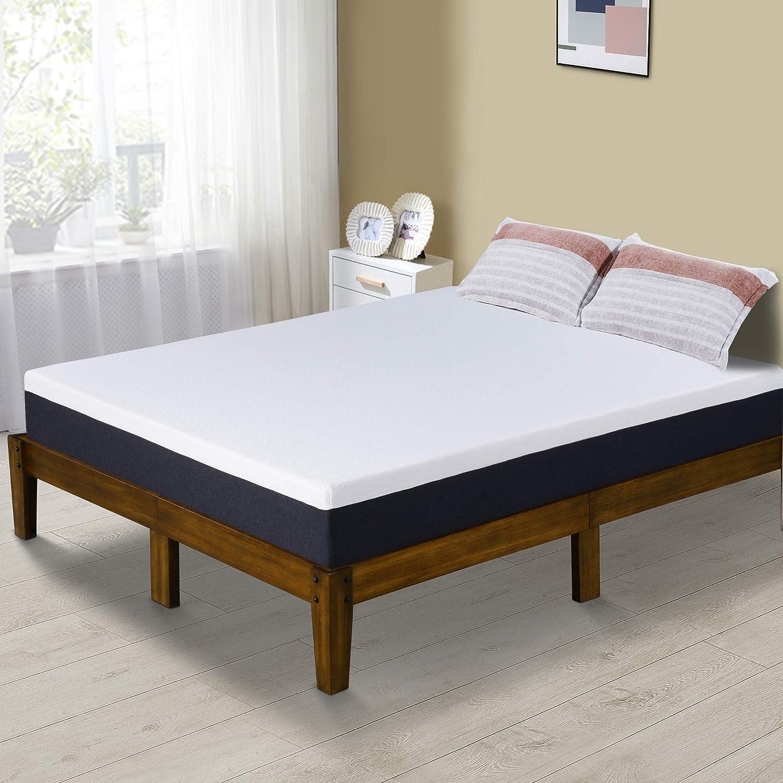 PrimaSleep Modern 10 Inch Air Flow Gel Memory Foam Comfort Bed Mattress Queen