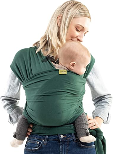 Boba Wrap Baby Carrier, Rainforest Serenity Organic - Original Stretchy Infant Sling, Perfect for Newborn Babies and Children up to 35 lbs