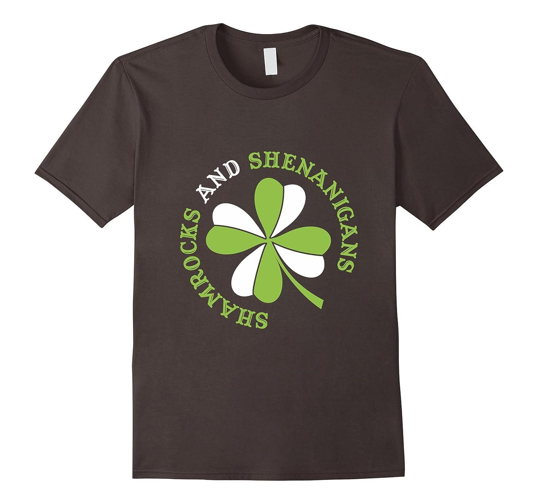 Shamrocks And Shenanigans St Patricks Day T-Shirt-CD