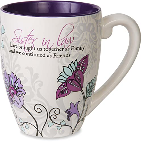 Pavilion Gift Company Mark My Words Sister In Law Floral Butterfly Coffee Tea Mug Large