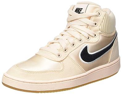 official photos 0a424 b67e9 Nike Ebernon Mid Prem Chaussures de Basketball Femme, Multicolore (Guava  Ice/Black/