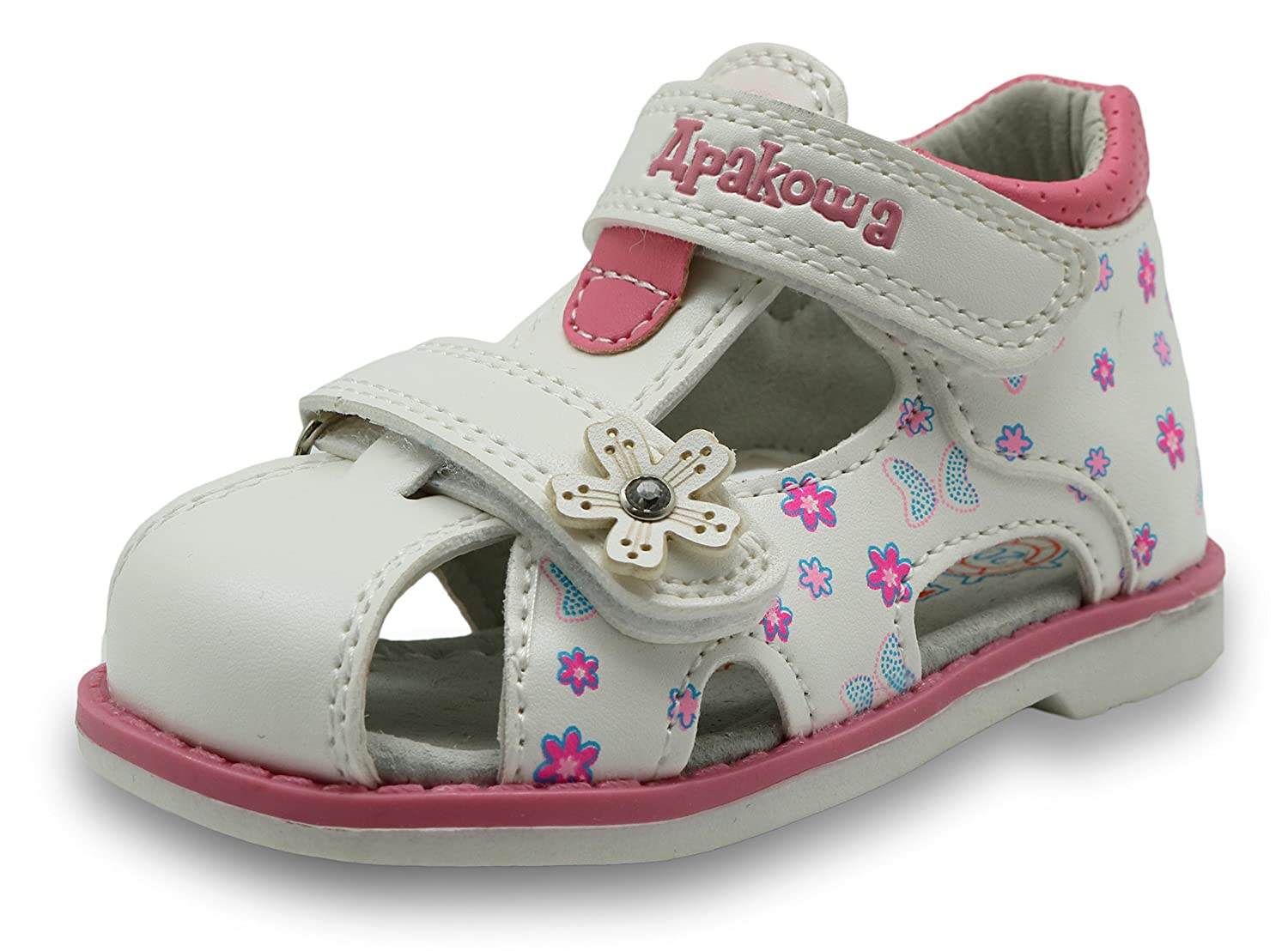 Toddler Apakowa Boys and Girls Double Adjustable Strap Closed-Toe Sandals