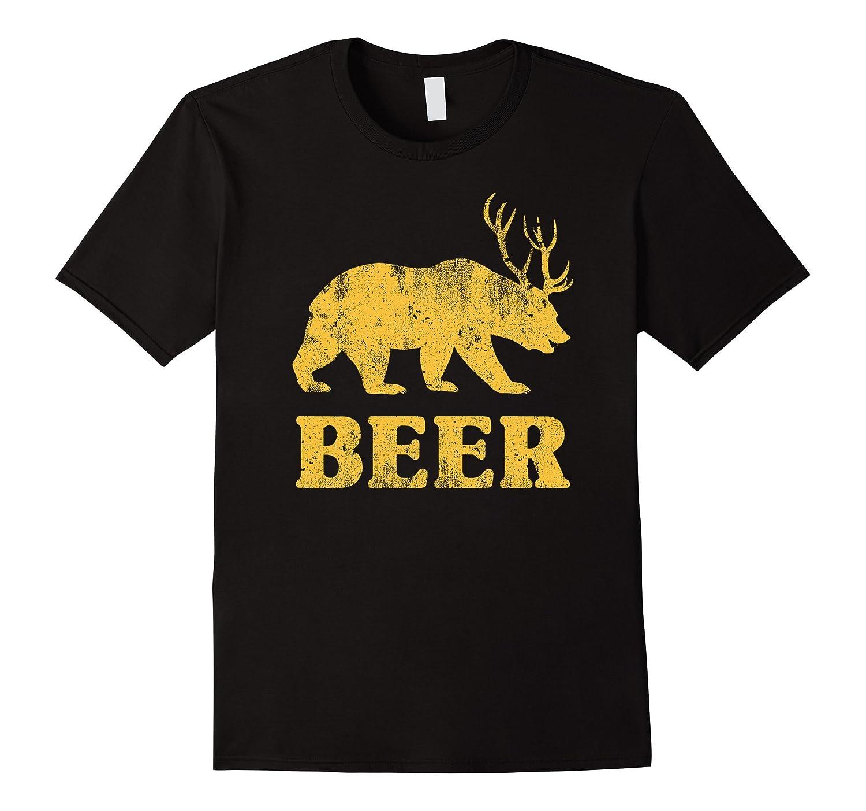 Mens Bear Funny T Shirt Asphalt-Awarplus