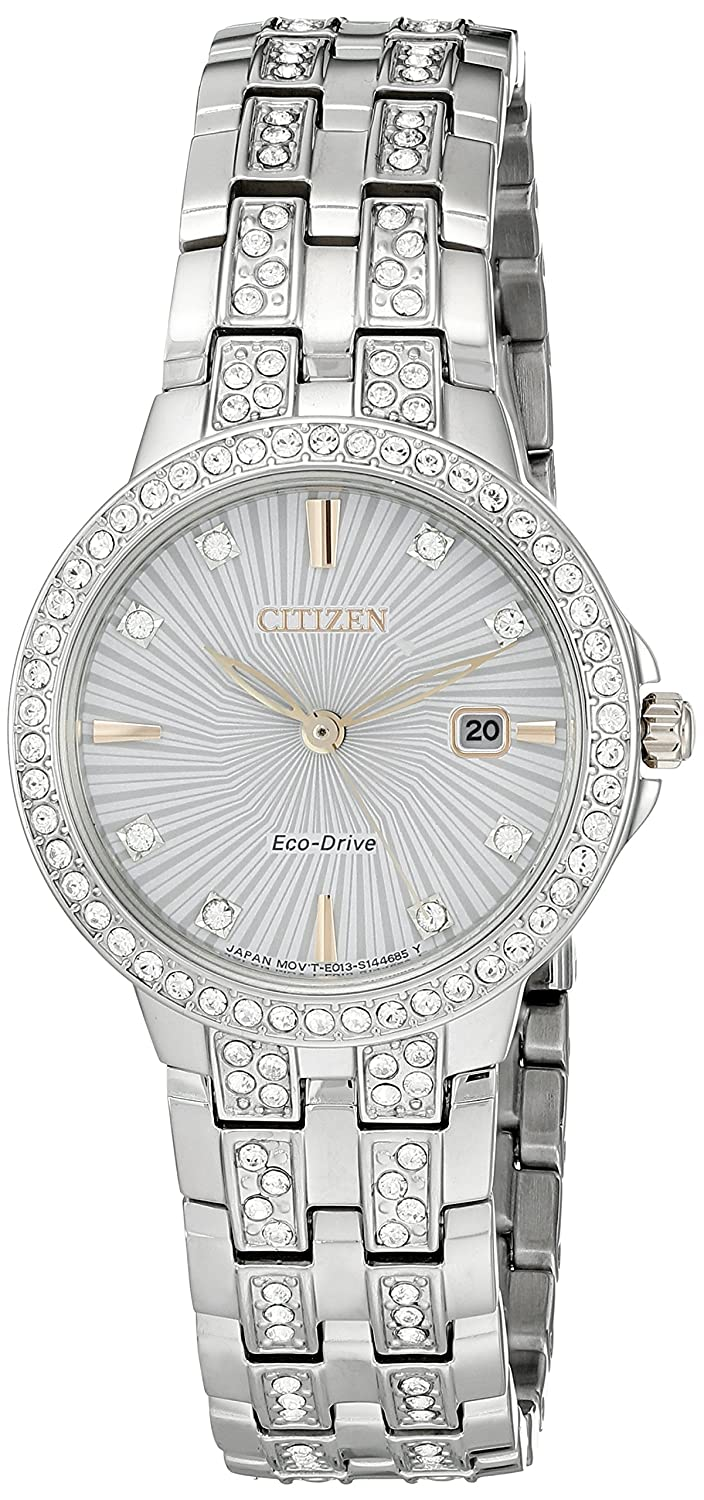 Citizen Women s Eco-Drive Stainless Steel Silhouette Crystal Watch