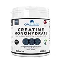 Creatine Monohydrate Tablets | Ultra Pure Micronised Creatine Tablets | Scientifically Proven To Increase Strength, Explosive Performance and Lean Body Mass | HPLC Tested Creatine Pills | OSHUNsport | Limited Time Introductory Offer