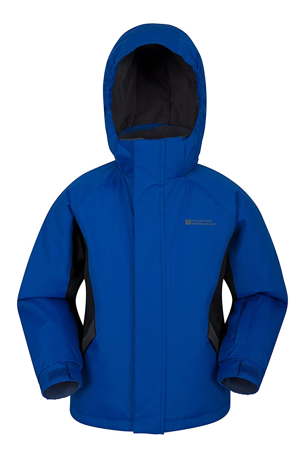 Mountain Warehouse Raptor Kids Snow Jacket - Snowproof Girls Winter Coat, Fleece Lined Boys Ski Coat, Integrated Snowskirt - Perfect For Camping in Cold Weather
