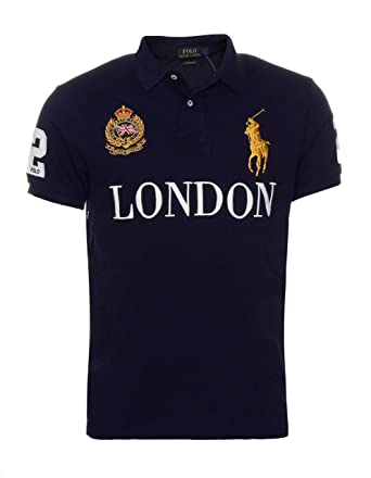 Para hombre Polo Ralph Lauren Custom Fit Londres GT Gran Bretaña ...