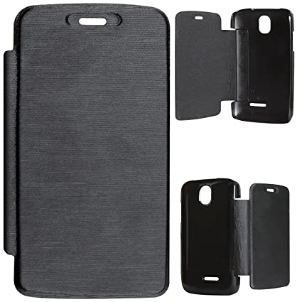 buy popular 96eaf f8744 DMG Flip Book Cover Case for Micromax Bolt A24 - Black: Amazon.in ...